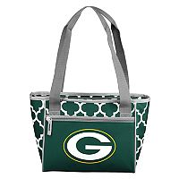 Logo Brand Green Bay Packers Quatrefoil 16-Can Cooler Tote