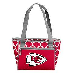 Logo Brand Kansas City Chiefs Quatrefoil 16-Can Cooler Tote