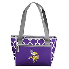 Logo Brand Minnesota Vikings Quatrefoil 16-Can Cooler Tote