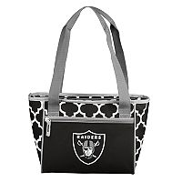 Logo Brand Oakland Raiders Quatrefoil 16-Can Cooler Tote