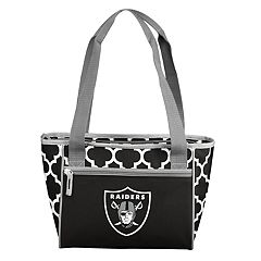 Logo Brand Oakland Raiders Quatrefoil 16-Can Cooler Tote