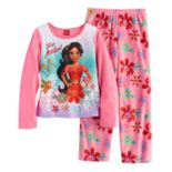 "Disney's Elena of Avalor ""For Avalor!"" Girls 4-8 Fleece Tee & Bottoms Pajama Set"