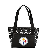 Logo Brand Pittsburgh Steelers Quatrefoil 16-Can Cooler Tote