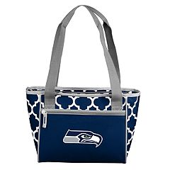 Logo Brand Seattle Seahawks Quatrefoil 16-Can Cooler Tote