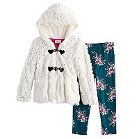 Girls 4-6X Little Lass 3-pc. Faux Fur Jacket Set