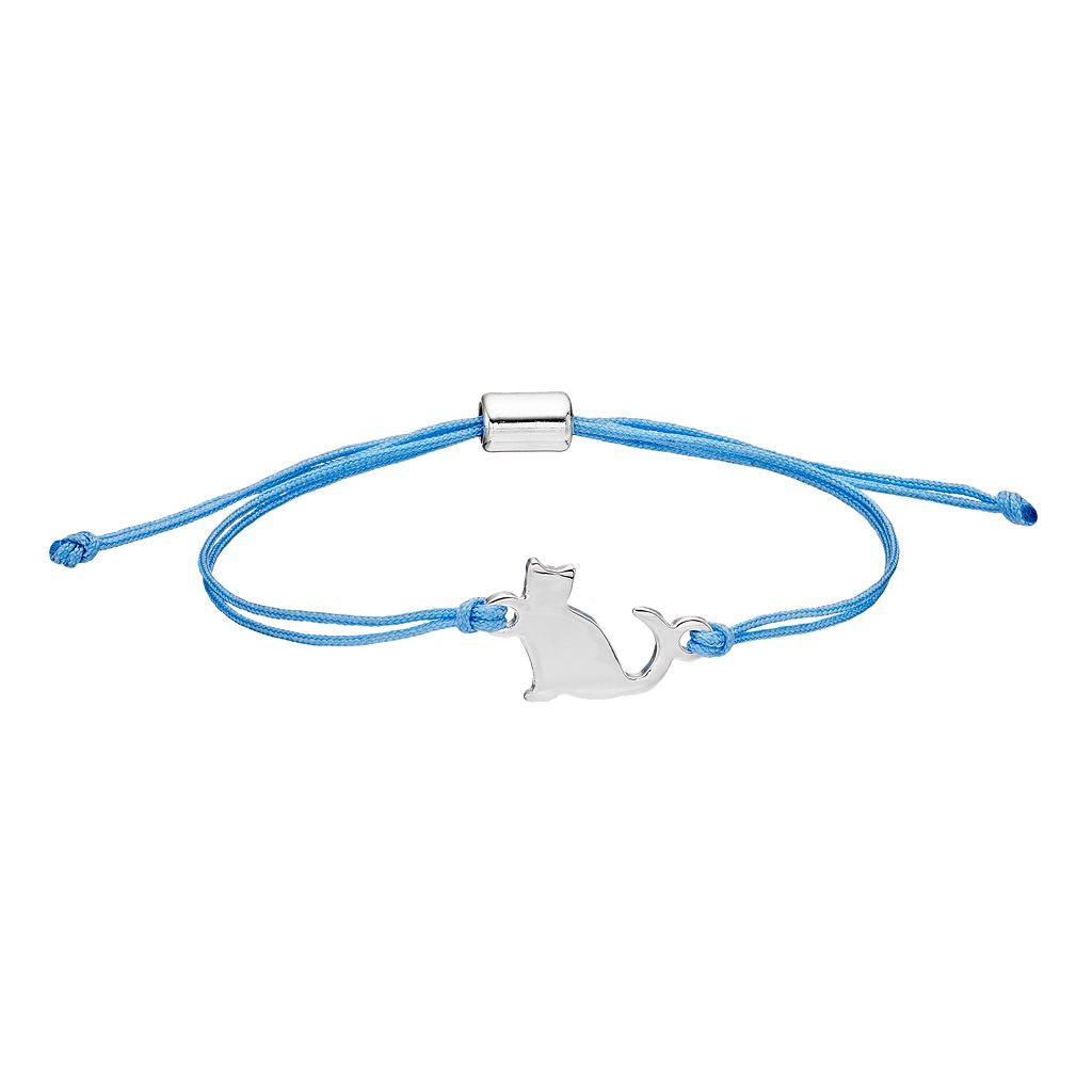 LC Lauren Conrad Cat Blue Cord Bracelet