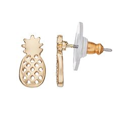 LC Lauren Conrad Nickel Free Pineapple Stud Earrings