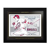 Los Angeles Angels of Anaheim Mike Trout Framed Wall Art