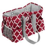 Logo Brand Alabama Crimson Tide Quatrefoil Junior Caddy Tote