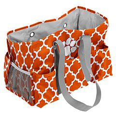 Logo Brand Clemson Tigers Quatrefoil Junior Caddy Tote
