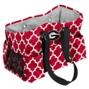 Logo Brand Georgia Bulldogs Quatrefoil Junior Caddy Tote