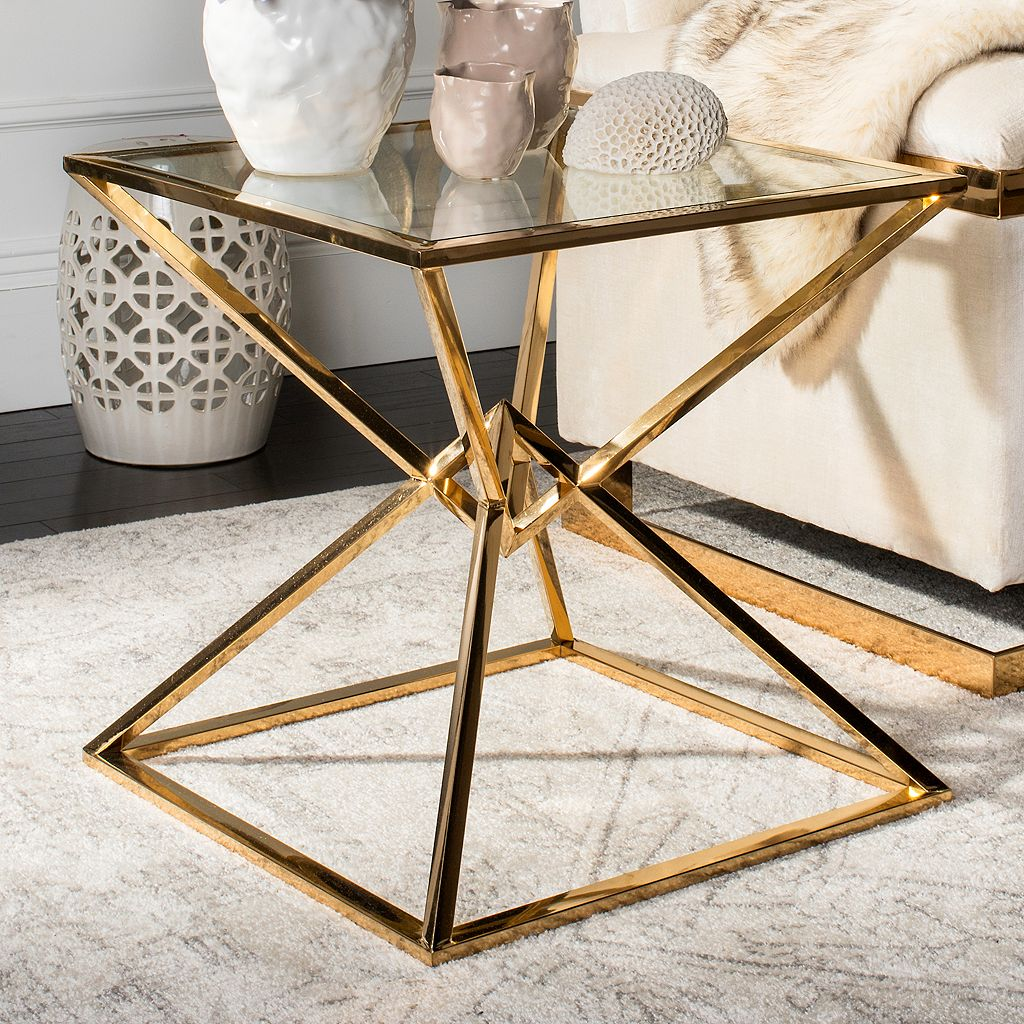 Safavieh Couture Fiorella Geometric End Table