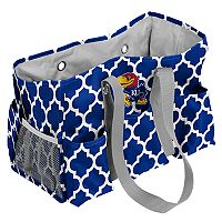 Logo Brand Kansas Jayhawks Quatrefoil Junior Caddy Tote