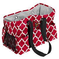 Logo Brand Louisville Cardinals Quatrefoil Junior Caddy Tote
