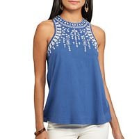 Petite Chaps Embroidered Tank