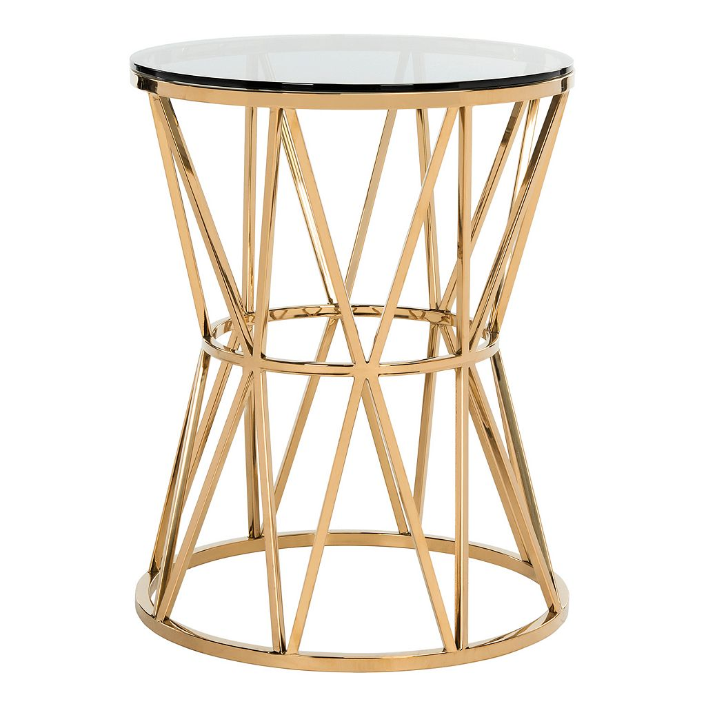 Safavieh Couture Delsy Geometric End Table