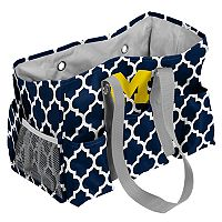 Logo Brand Michigan Wolverines Quatrefoil Junior Caddy Tote