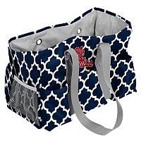 Logo Brand Ole Miss Rebels Quatrefoil Junior Caddy Tote
