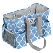 Logo Brand North Carolina Tar Heels Quatrefoil Junior Caddy Tote