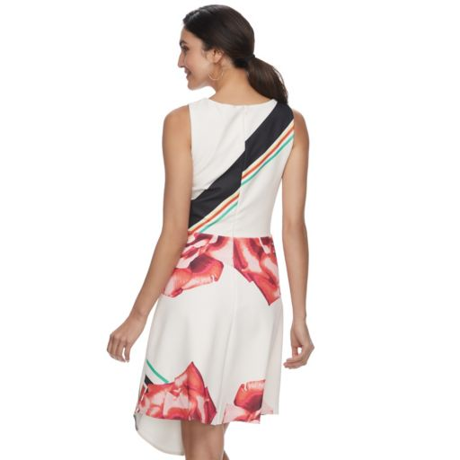 Women's Indication Mixed-Print Fit & Flare Dress