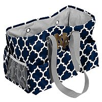 Logo Brand Notre Dame Fighting Irish Quatrefoil Junior Caddy Tote