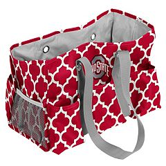 Logo Brand Ohio State Buckeyes Quatrefoil Junior Caddy Tote