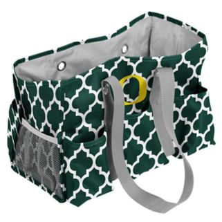 Logo Brand Oregon Ducks Quatrefoil Junior Caddy Tote
