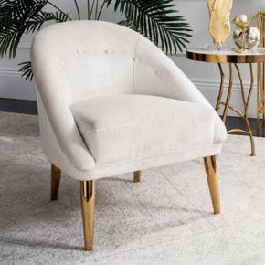 Safavieh Couture Hopkins Velvet Club Accent Chair