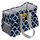 Logo Brand West Virginia Mountaineers Quatrefoil Junior Caddy Tote