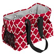 Logo Brand Wisconsin Badgers Quatrefoil Junior Caddy Tote