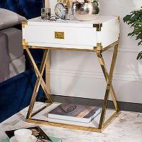 Safavieh Couture White Storage End Table