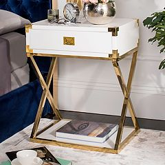 Safavieh Couture White Storage End Table