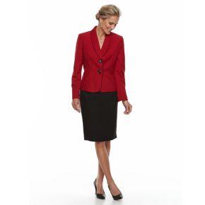Women's Le Suit Mélange 2-Button Skirt Suit Set