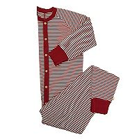 Men's Burt's Bees Organic Holiday Striped One-Piece Family Pajamas