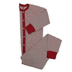 Men's Burt's Bees Organic Holiday Striped One-Piece Family Pajamas