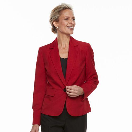Women's Le Suit Mélange 1-Button Pant Suit Set