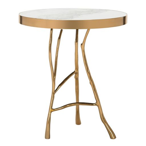 Safavieh Couture Amparo Bianco Lilac Marble End Table
