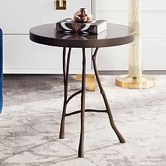 Safavieh Couture Amparo Rasotika Brown Marble End Table