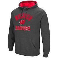 Men's Colosseum Wisconsin Badgers Pullover Hoodie