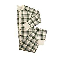 Men's Burt's Bees Organic Holiday Buffalo Plaid One-Piece Family Pajamas