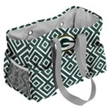 Logo Brand Green Bay Packers Quatrefoil Junior Caddy Tote