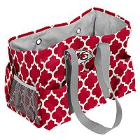 Logo Brand Kansas City Chiefs Quatrefoil Junior Caddy Tote
