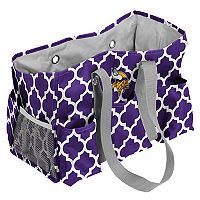 Logo Brand Minnesota Vikings Quatrefoil Junior Caddy Tote