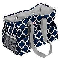 Logo Brand New England Patriots Quatrefoil Junior Caddy Tote