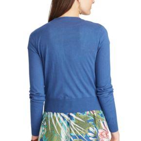 Petite Chaps Button-Front Cardigan