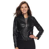 Women's Apt. 9® Faux-Leather Jacket