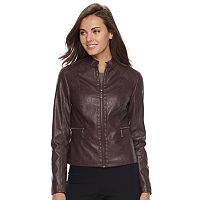 Women's Apt. 9® Faux-Leather Jacket