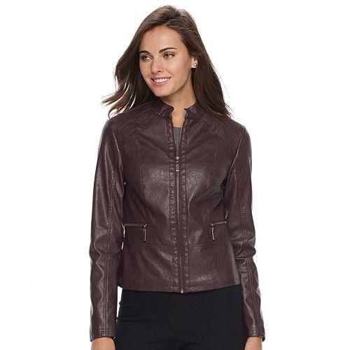 Apt. 9® Faux-Leather Jacket