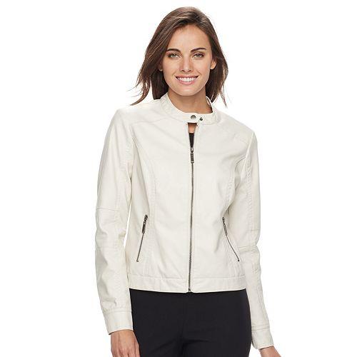 Women's Apt. 9® Faux-Leather Moto Jacket