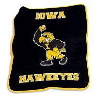 Logo Brand Iowa Hawkeyes Mascot Throw Blanket